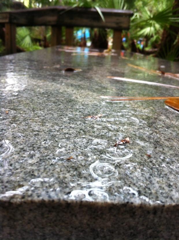 Water Drops on Slab