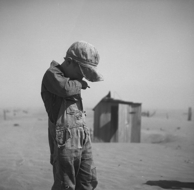 boy in duststorm